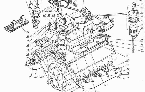 двигателя ГАЗ-14 (Чайка)