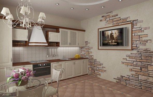 Кухня в частном доме (51
